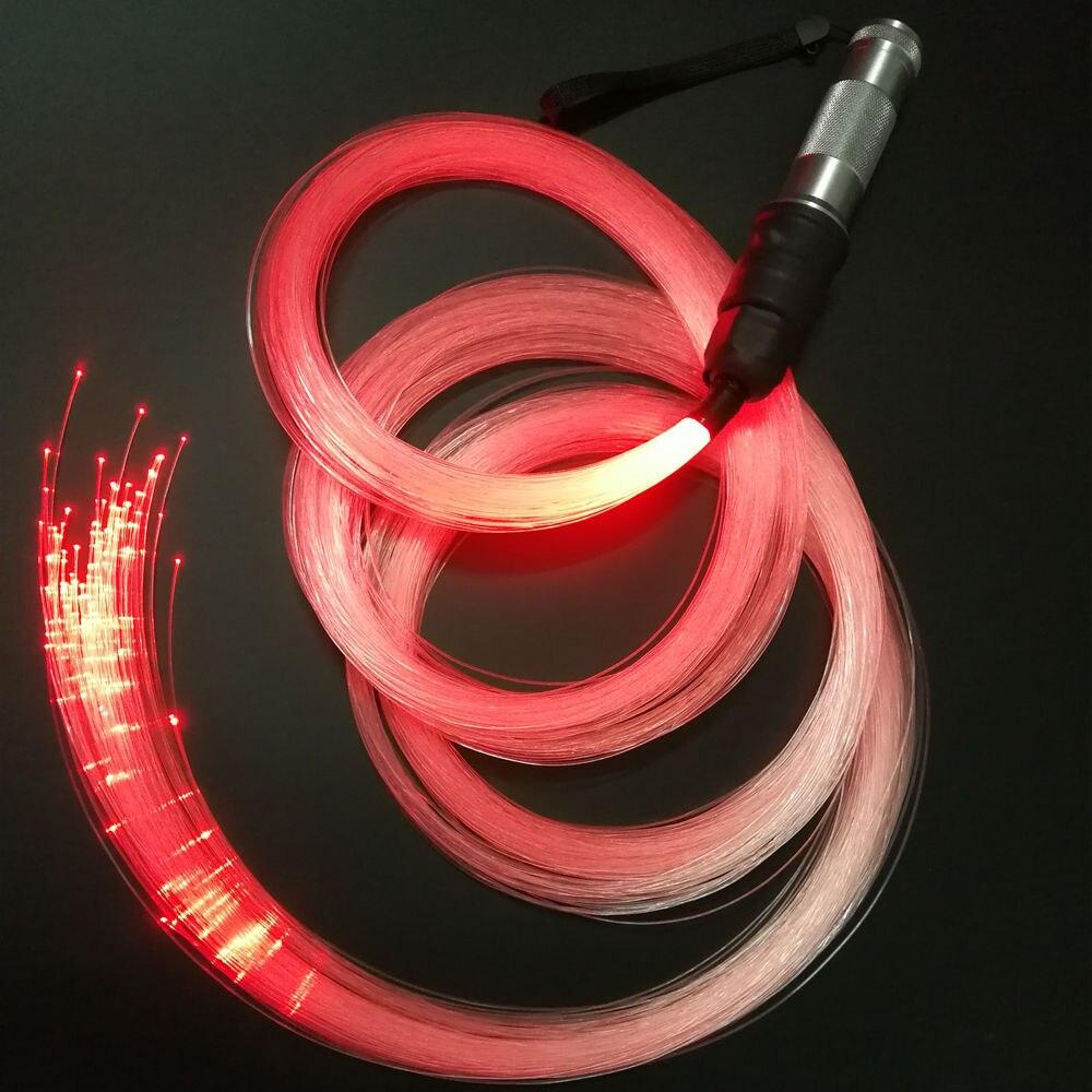 La lumière optique de fouet de Fiber de LED de rvb de fantaisie 10 couleurs a changé dans la puissance de batterie pour la danse et le Cosplay de flux-arts