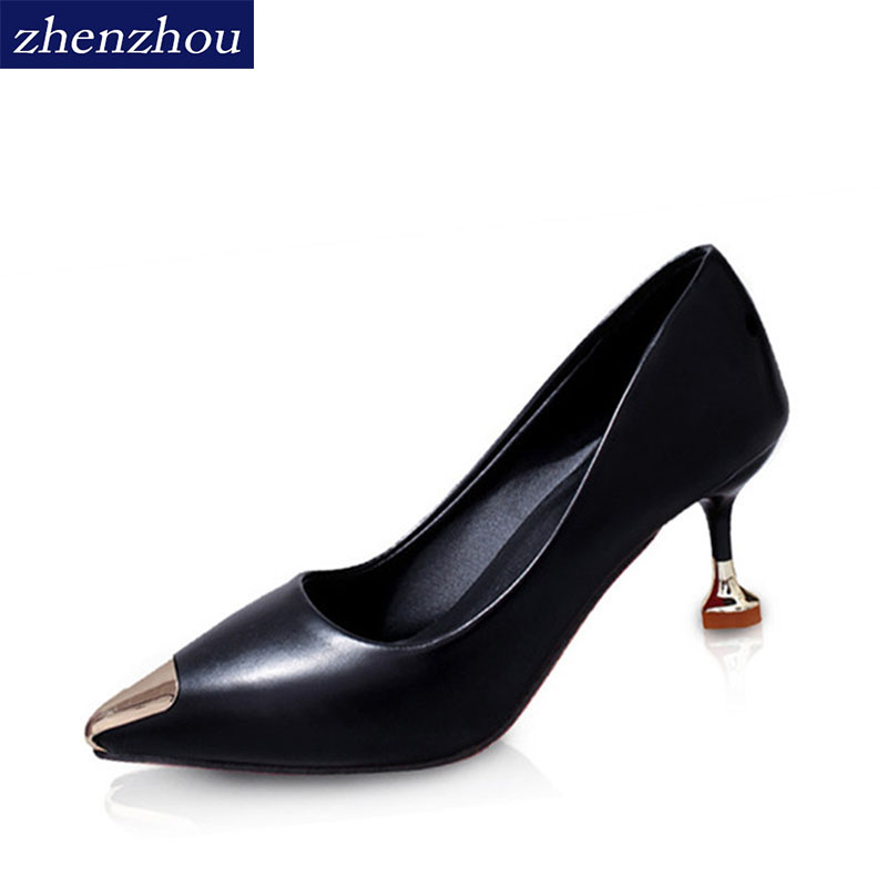 ZHENZHOU Women Pumps 2018 spring and autumn women shoes Pointed heels The shallow mouth Fine with The bride wedding shoe the new 2017 diamond red bride wedding shoes pointed the bride wedding toast with velvet like shoes fashion