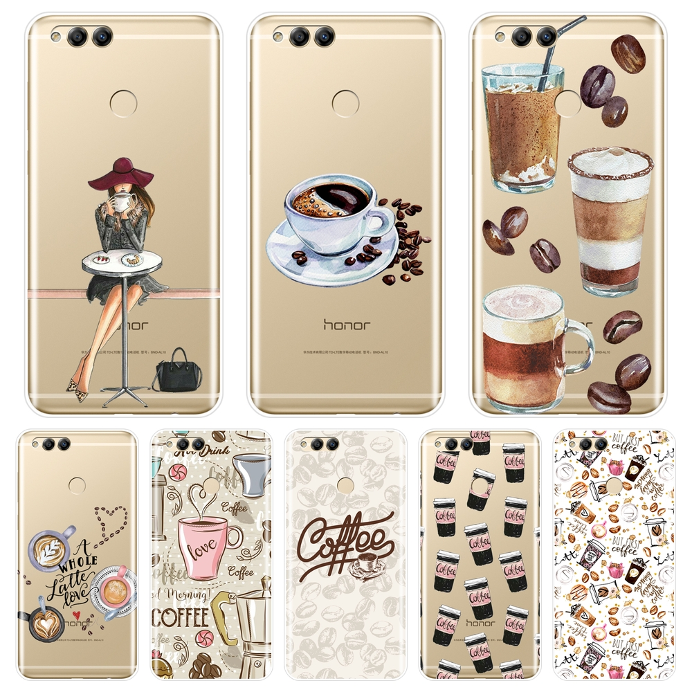 Back Cover For Huawei <font><b>Honor</b></font> 8X MAX 10 9 8 7 <font><b>7S</b></font> 7X 7A 7C Pro Soft <font><b>Silicone</b></font> Coffee Phone <font><b>Case</b></font> For Huawei <font><b>Honor</b></font> 7 8 9 10 Lite <font><b>Case</b></font> image