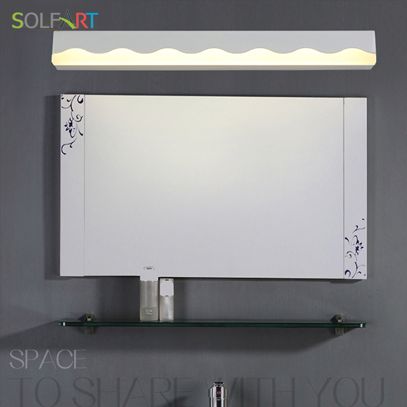 SOLFART sconce wall lights bathroom lighting mirrors acrylic Mirror lamp bathroom arandela bathroom lamp makeup room ps7588