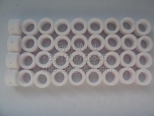 100 Pcs, PT31 40A Gas Ring, Plasma Cutter Ceramic Consumables, PT-31 40 Amp