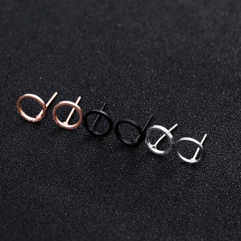 Cool Gadgets FAMSHIN 2016 Best selling NEW Women Fashion Simple Gold Silver Stud Earring Punk Rock Retro Circle Earring Ear Jewelry Piercing 1