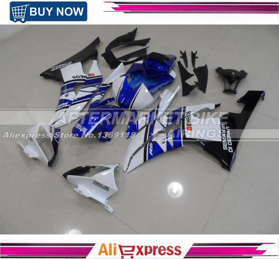OEM Fitment Aftermarket UV Painting Job YZF R6 06 07 Motorcycle Fairing Cowling For Yamaha YZF R6 2006 2007 Blue & White & Black aftermarket free shipping motorcycle parts eliminator tidy tail fit for 2006 2012 yzf r6 yzf r6 yzfr6