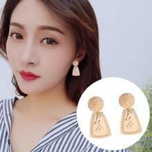 2019 Korea Ins Fashion Earring Metal Round Geometrically Mature Retro Irregular Sheet Ear Nail Clip Women Jewelry хомич е попова и азбука