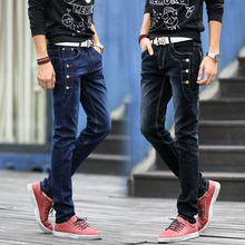 2017 HOT selling Top designer famous brand upscale cotton men jeans, European and American style pants male biker trouser