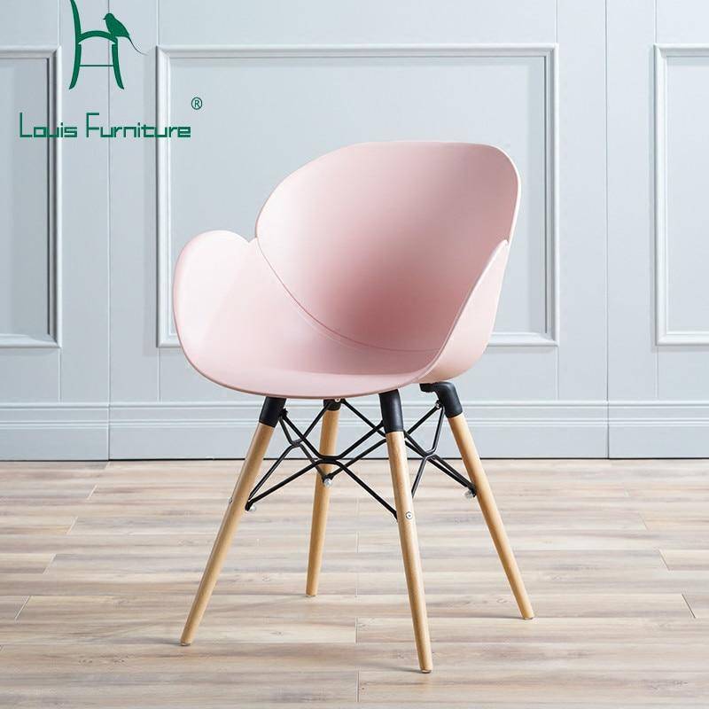 Simple Minimalist Dining Set: Louis Fashion Dining Chair Nordic Minimalist Household