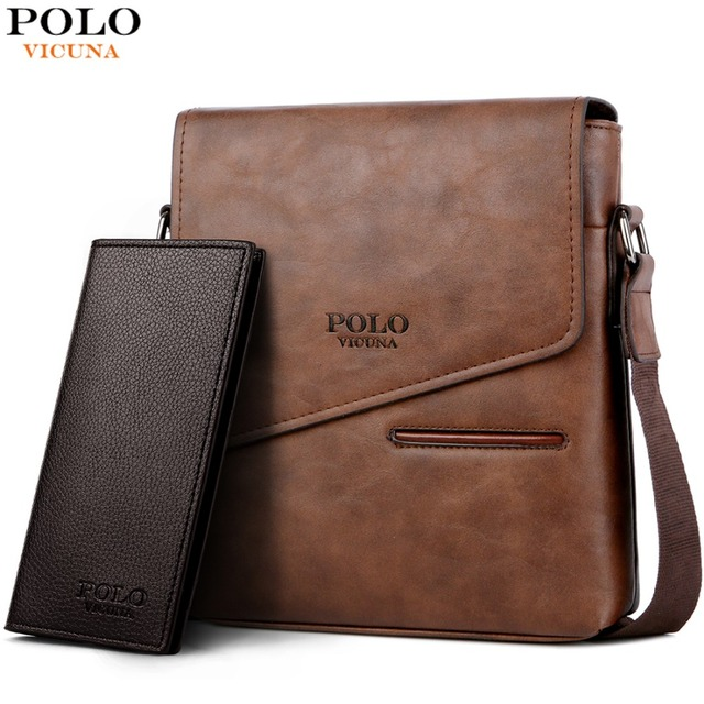 3ad04453bd VICUNA POLO Famous Brand Casual Men Crossbody Bag With Card Pocket Leather Man  Shoulder Bag Business Men s Fashion Messenger Bag
