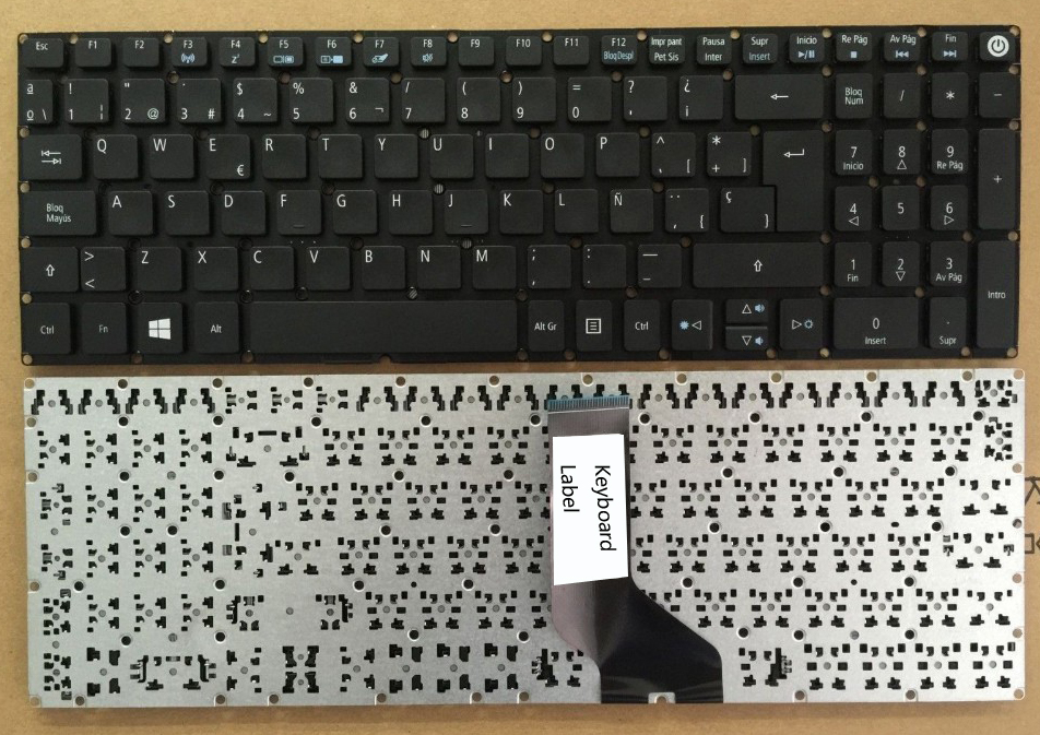 New  Laptop keyboard for   Acer aspire E5-573 E5-573G E5-573T E5-573TG  SP  layout spanish keyboard for acer aspire 5745 5749 5800 5820 7235 7250 7251 7331 7336 7339 7535 sn7105a nsk alc0r sp laptop keyboard
