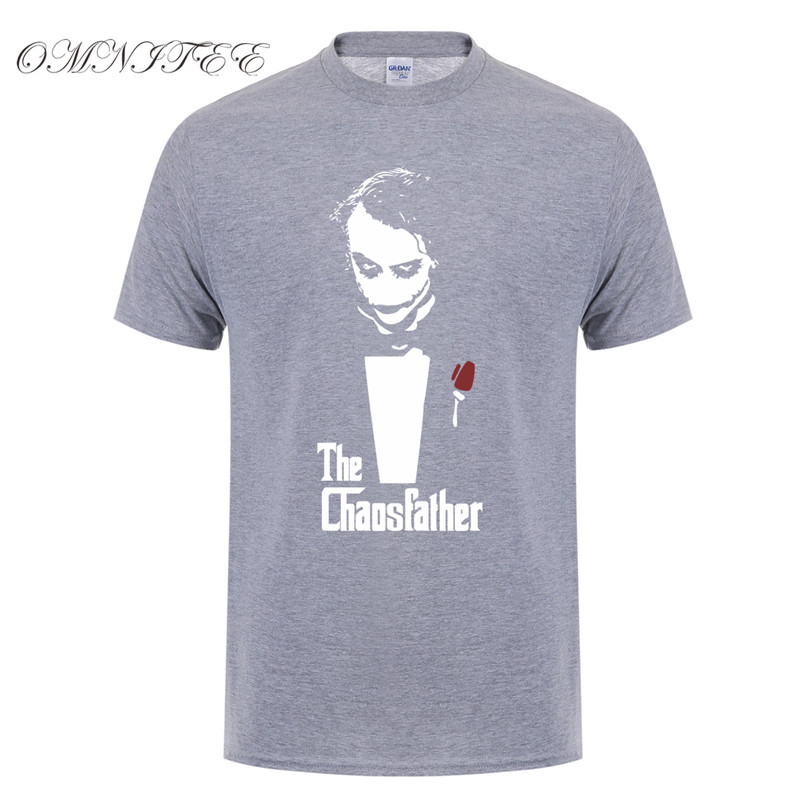 Модные летние стильные Джокер футболки мужские хлопковые мужские футболки новые футболки с принтом Джокер с коротким рукавом мужские топы OT-418 - Цвет: as picture