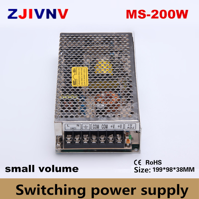 mini/small size 200w switching power supply single output 5v 30a programmable ac/dcled smps 12v 15v 24v 27v 36v 48v, small volum ce approved 200w nes series single output switching power supply 5v 12v 15v 24v 36v 48v high quality reliable