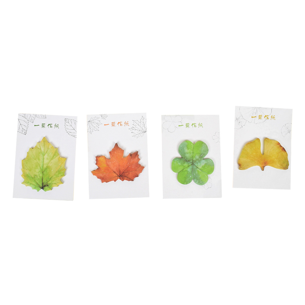 Cute Fallen Watercolor Leaves Self-Adhesive Memo Pad Sticky Note Post Planner Gift