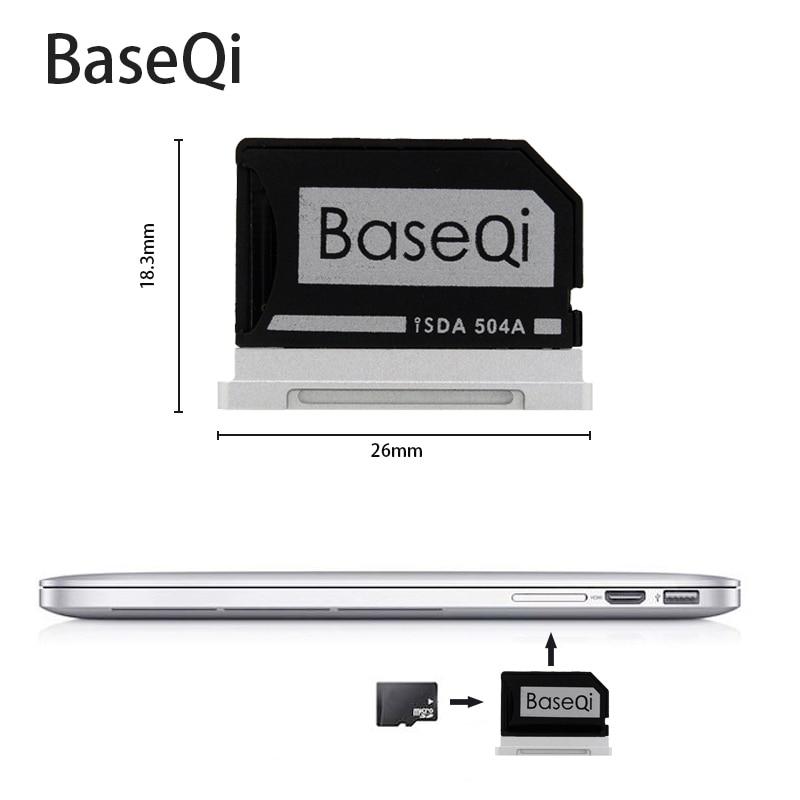 Pour Macbook Pro Retina 15 ''Fin 2013 to2015 504A BASEQI En Aluminium Mini Lecteur De Carte Lecteur de Carte
