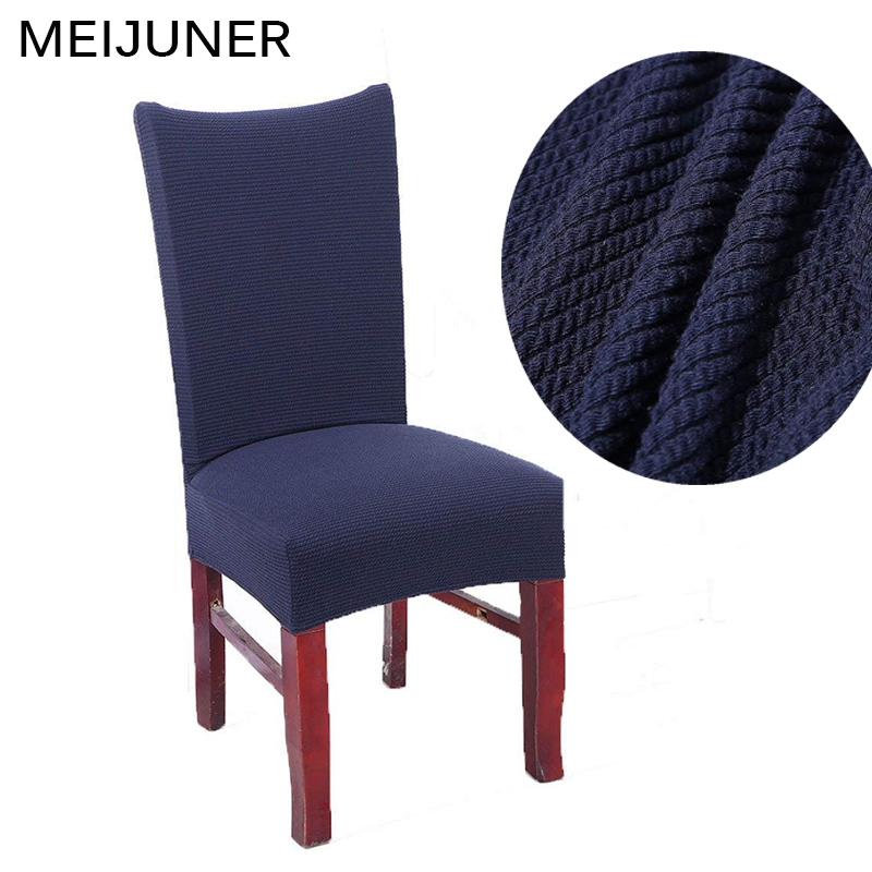 Meijuner Stretch Dining Room Chair Covers Universal Knitted Thickened Elastic Protector Covers Removable Washable Covers MJ082