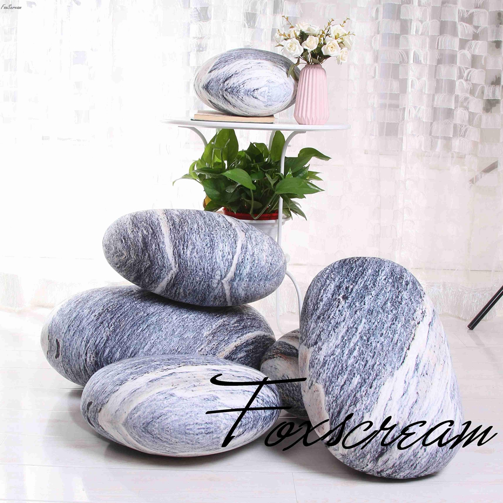 Modern large Cushions 6 pieces Stones Pillowcase Colorful Country Road Pebble floor Cushions Cover Outdoor Throw Pillows Cover