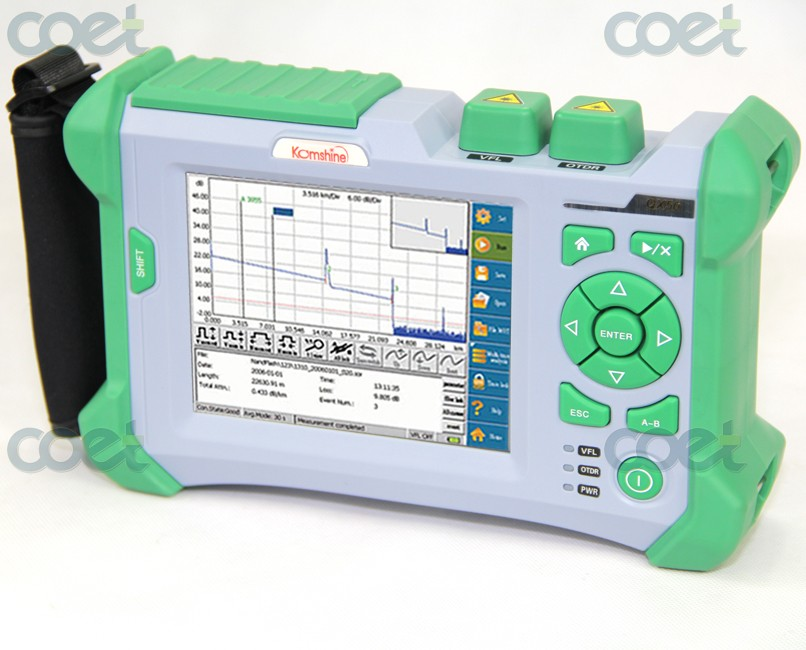 Fibre Optic FTTX OTDR Tester QX50 SM FTTH 1310/1550nm Built in VFL OTDR with FC,SC,LC UPC Connectors