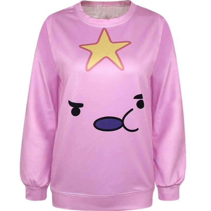 Harajuku Zipper 3D Print Adventure go Finn Jake Lumpy Space Princess Sweatshirts Fashion Women Hoodies Cartoon Hooded Pullover