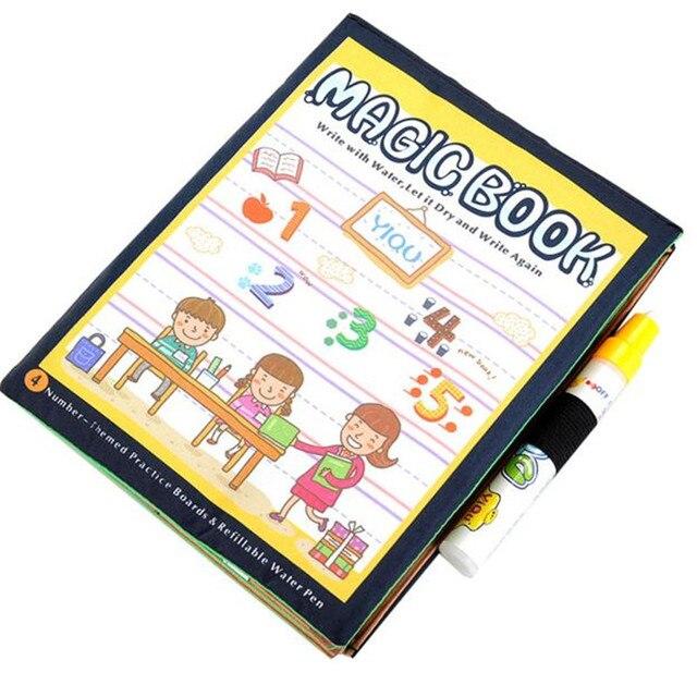 4 27 5 De Reduction Coloriage Magique Eau Dessin Livre Educatif Eau Stylo Peinture Cadeau Doodle Livre Montessori Bricolage Enfants Artisanat