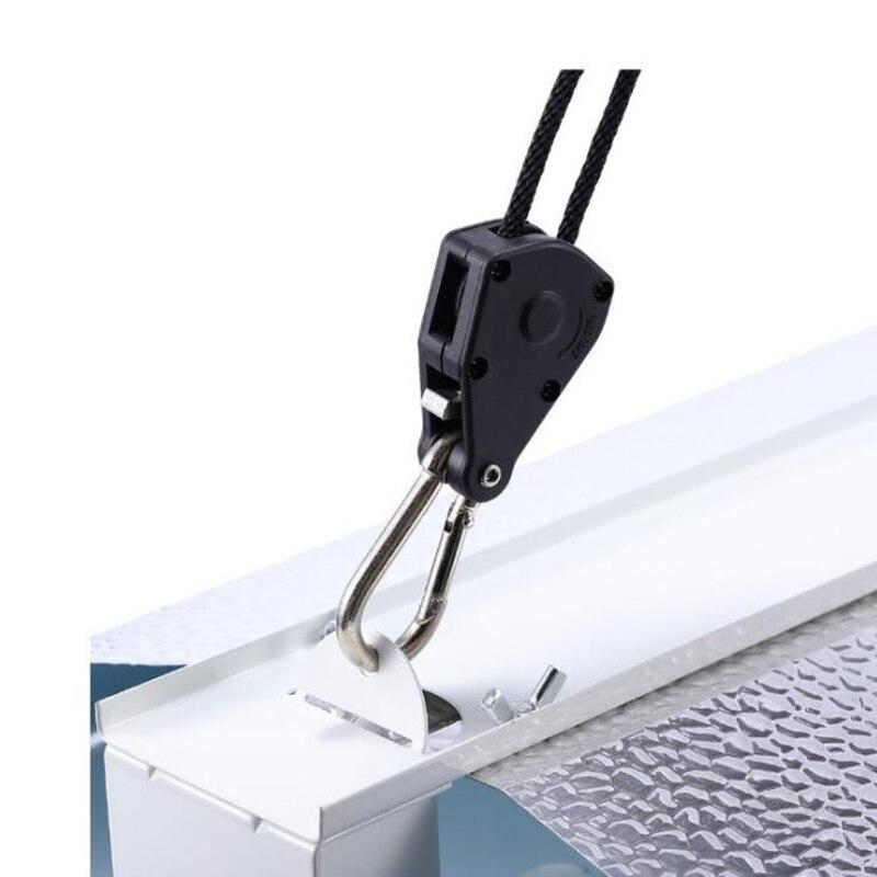 Adjustable 1 Pair 2 PCS 18 Inch Nylon Rope Ratchet Yoyo Hangers Light Hanging Kit for LED Grow Light Grow Tent Room  (5)