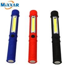 zk54 COB LED Mini Pen Multifunction led Torch light cob Handle work Flashlight Work Hand Torch Flashlight USE 3*AAA batteries