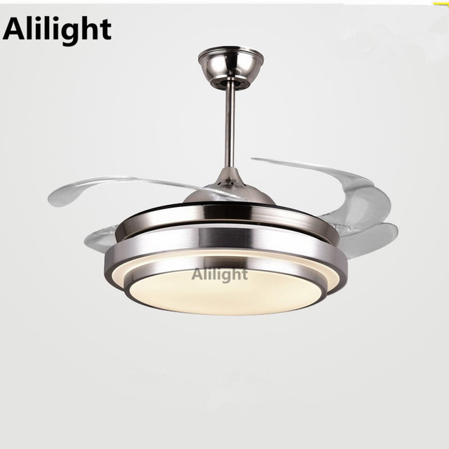 Led modern simple invisible ceiling fans with light wireless control led modern simple invisible ceiling fans with light wireless control fan lamp for dining living room aloadofball Choice Image