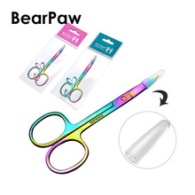 BearPaw Pretty COLORFUL Chameleon Curved Head Eyebrow Scissors Manicure Cutter Nail Makeup Tool Scissor