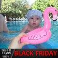 2 шт./компл. Летний Ребенок Розовый Фламинго Кольцо Надувные Лебедь Float Воды в Бассейне Игрушки Сиденья Лодка Плавание Надувные Хэллоуин Рождество