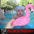 2 pçs/set Verão Baby Pink Flamingo Cisne Brinquedos Piscina de Água Assento Float Anel Inflável Natação Barco Inflável do Dia Das Bruxas Natal
