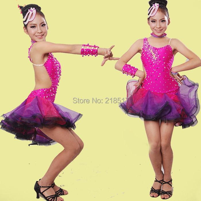 67c44b68c Leopard Zebra latin dance dress for practice women latin salsa dress ...