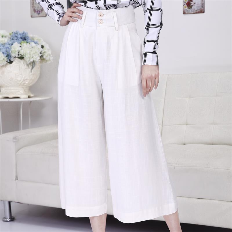 White Cotton Trousers Promotion-Shop for Promotional White Cotton ...