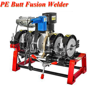 Hand Push Type Pipe Hot Melt Machine PE Butt Fusion Welder Butt Welding Machine 220v 2000W 250 Degree (63 160mm)