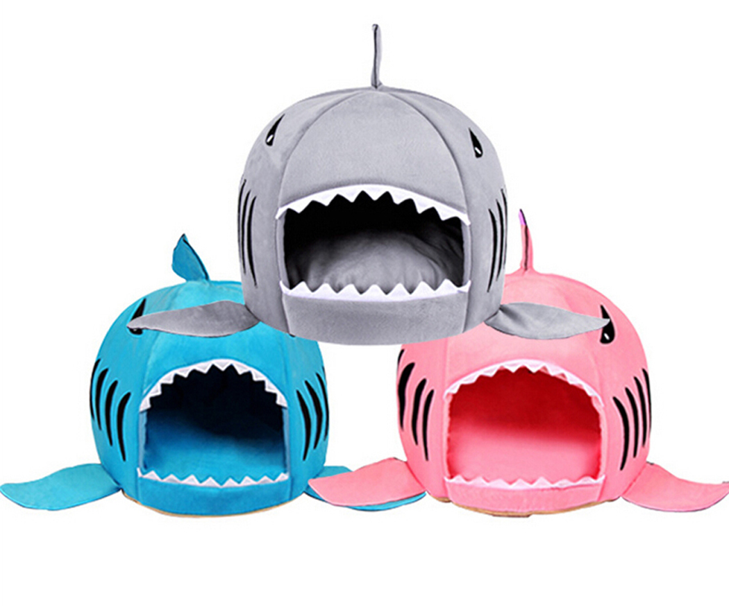 Autumn Dog Bed Pet Cat Bed Shark Cats Beds House For Large Medium Small Dogs Pet Beds Puppy Shark Kennel Chihuahua Pets House