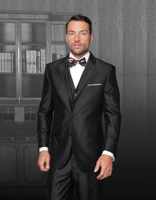 New Arrival Black wedding tuxedos suits for grooms Jacket+Pants+ ...