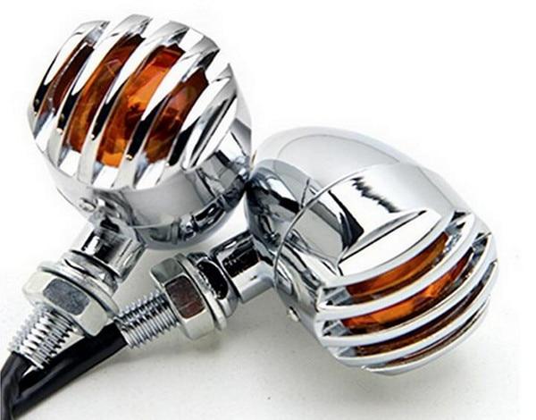 1 paar Motorrad Retro Vorn Hinten Blinker Indikatoren Mini Kugel Blinkers Lichter Für Harley
