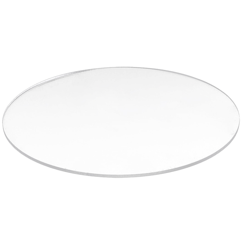 Transparent  3mm Thick Mirror Acrylic Round Disc Diámetro:50mm