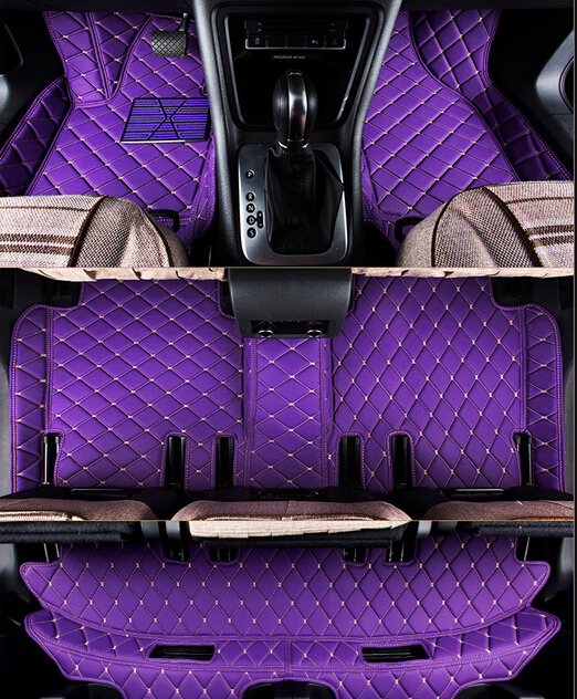 full covered wholy surrounded rugs special car floor mats for Mitsubishi Pajero Sport 7seats durable carpets