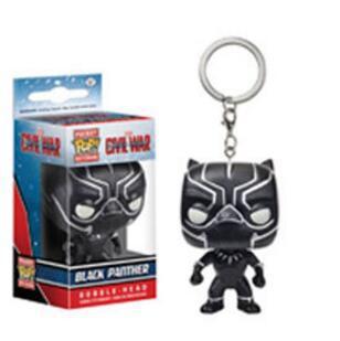 FUNKO POP брелок Marvel странные вещи Капитан Америка Сейлор Мун Игра престолов малефисент с коробкой - Цвет: BLACK PANTHER