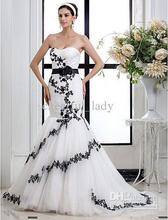 2014 - New Style Appliques Trumpet/Mermaid Sweetheart Tulle wedding dress Custom Made Bridal gowns
