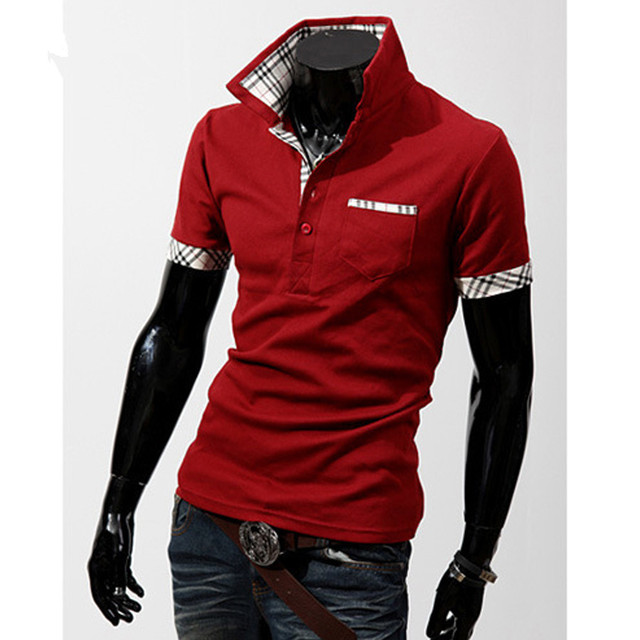 Casual Summer Style Short Sleeve Polo Masculino Mens Solid Shirts Polo Cotton Plus Size Brand Shirts Polos