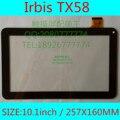 10.1 pulgadas para Irbis TX58 TX59 tablet pc panel de pantalla de la capacitancia pantalla táctil capacitiva externa