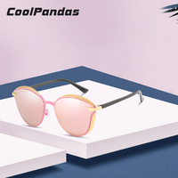 5f580635e 2019 Brand Fashion Cat Eye Polarized Sunglasses Women Pink Mirror Driving  Sun Glasses Shades Oculos Eyewear