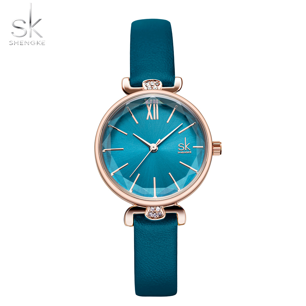 Shengke Classic Casual Analog Watches Women Japanese Quartz Wristwatches Relogio Feminino Ladies Thin Leather Watch Montre Femme