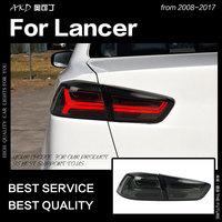 AKD автомобильный Стайлинг для Mitsubishi Lancer задние фонари 2008 2017 Lancer EX светодиодный задний фонарь дневные ходовые огни тормоза Обратный Авто акс