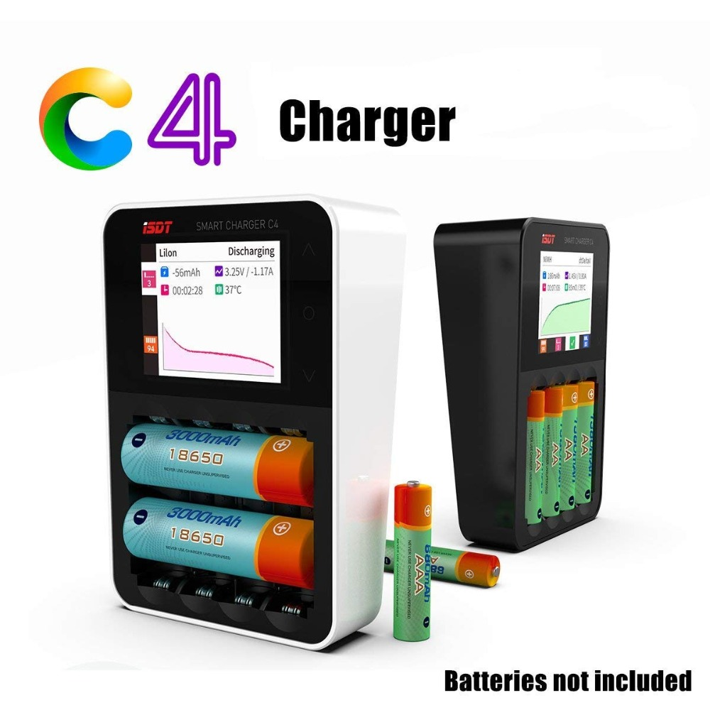 ISDT C4 8A Touch Screen Smart Battery Charger with USB Output for 18650 26650 AA AAA Battery with IPS Display Screen-in Parts & Accessories from Toys & Hobbies    2