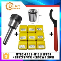 MT2 ER32 M12 1PCS ER32 Spring Clamps 9PCS ER32 Wrench 1PCS Collet Chuck Morse Holder Cone For CNC Milling Lathe tool