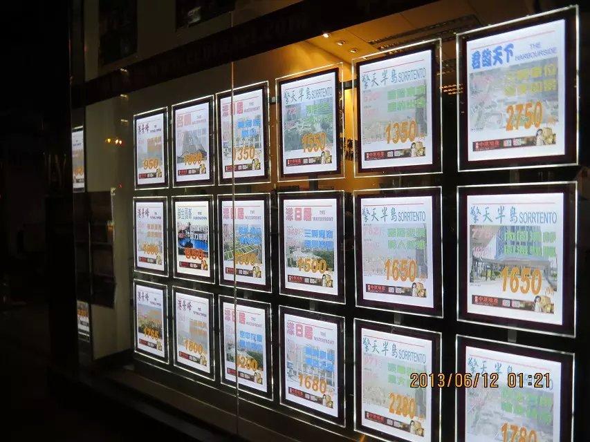 18 Stücke Led Fenster Display, Makler Acryl Plakatrahmen Licht Panel, A4 einseitig Kabel Draht hängen Systeme Kits