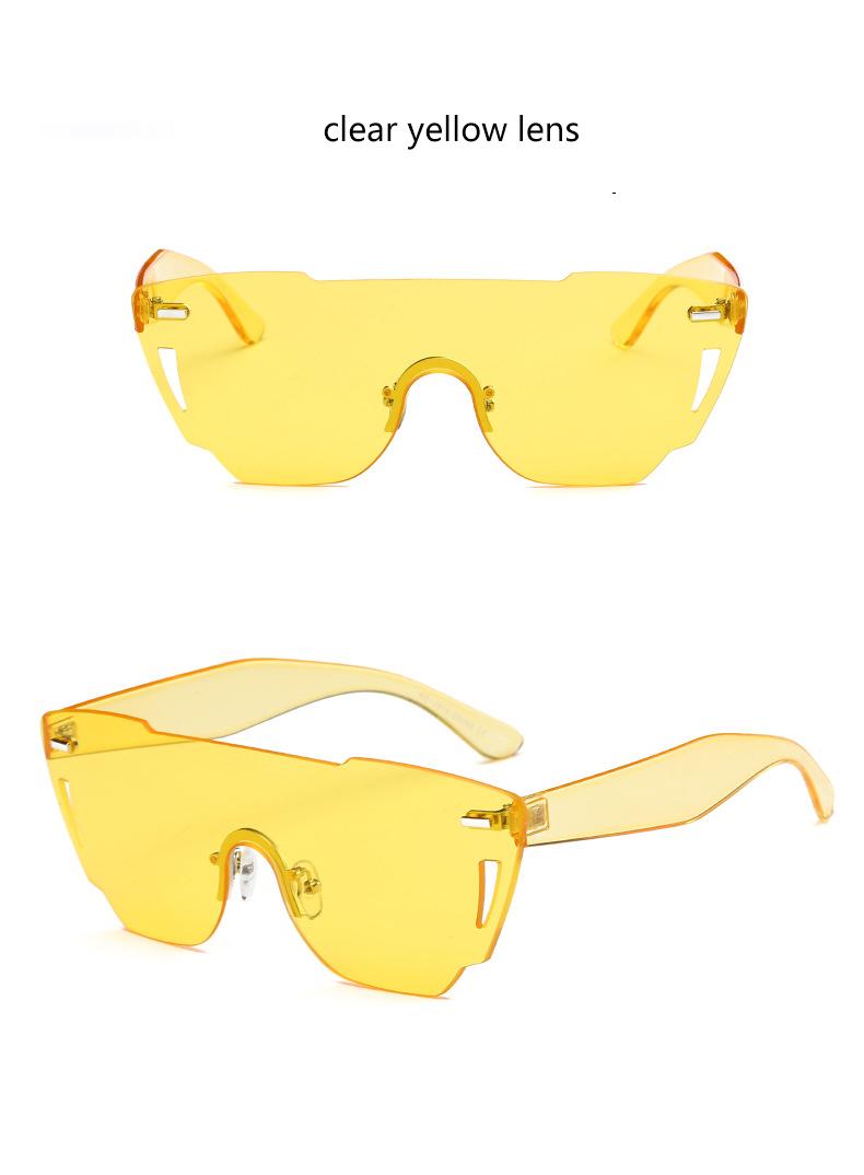 HTB1K R7RXXXXXaHXXXXq6xXFXXXw - Candy Color Sunglasses Flat Top Rimless Sunglasses