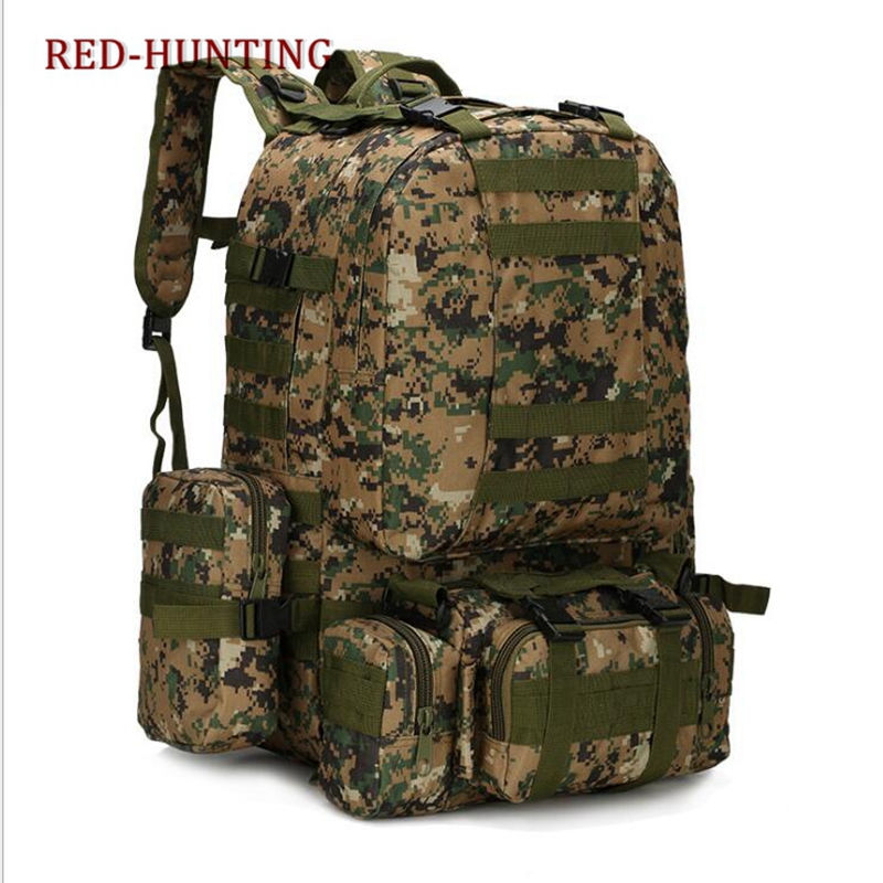 Army tactical backpack 50L combination package men Women travel large big backpack hunting hikingBag