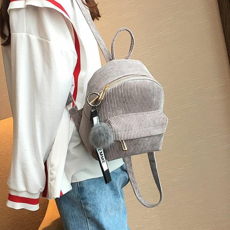 Милый бархатный рюкзак для подростков, детский мини рюкзак, Kawaii, маленькие рюкзаки для девочек, женские рюкзаки, меховая школьная сумка-2