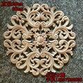 Мода круг цветок древесной стружки двери шкафа мебель аппликация древесной стружки dongyang резьба по дереву украшения