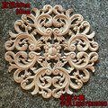 Moda círculo flor aparas de madeira porta do armário móveis applique aparas de madeira dongyang escultura em madeira decoração